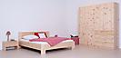 Schlafzimmerprogramm in Zirbe massiv roh unbehandelt